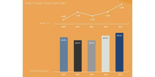2013 YIR Assets and Grantaking Graphic