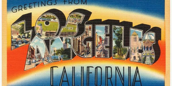 Vintage California postcard_photo by Boston Public Library